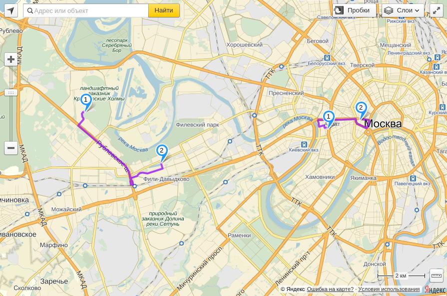 карта яндекс карта маршрут
